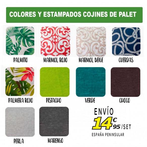Set 3 cojines palet